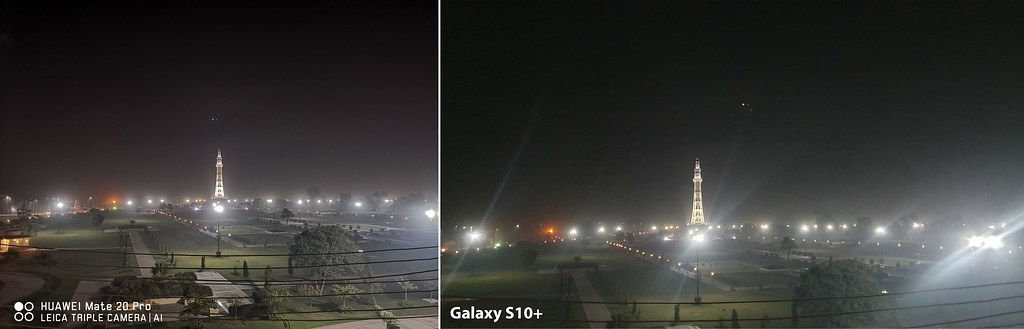 Mate 20 vs Galaxy S10+: Shot of Minera-e-Pakistan with ultra Wide Angle lens