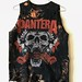 Splatter Bleached and Shredded Pantera Tank Top Small