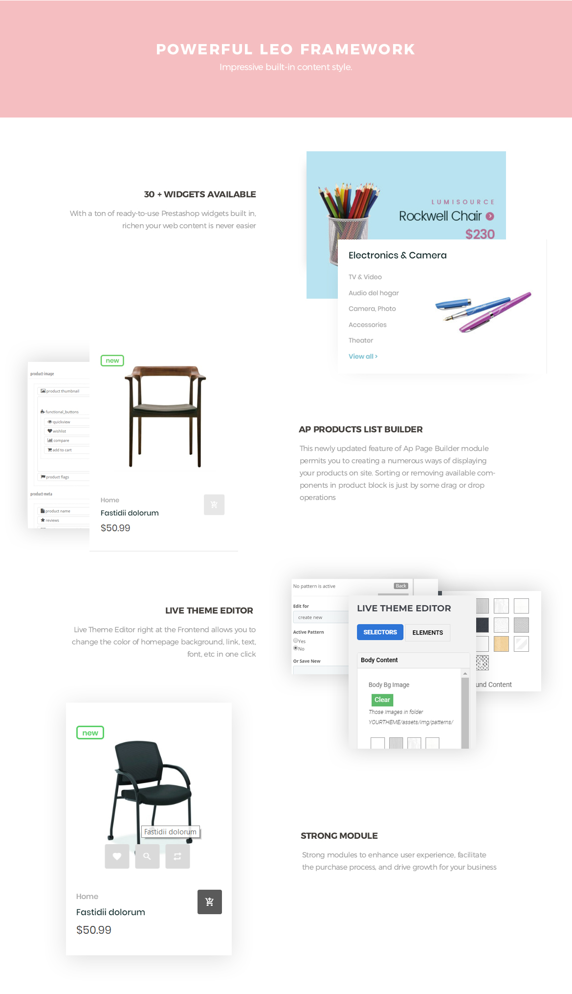 Powerful Leo Framework - Leo Neons - Stationery Prestashop theme