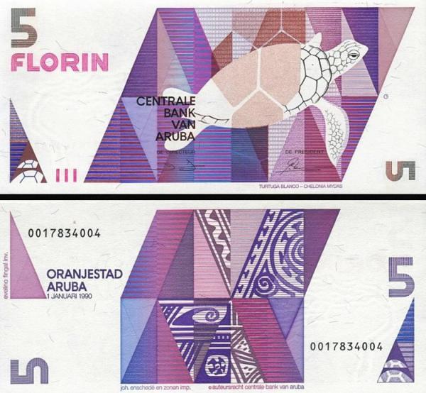 5 Florin Aruba 1990 P06