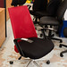 Ex demo chair red back reduced to E20