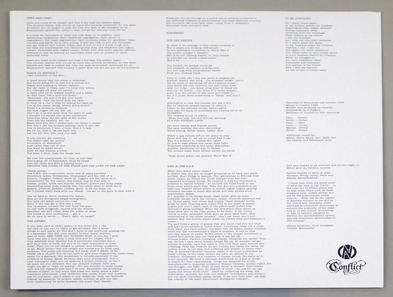 """CONFLICT UNGOVERNABLE FORCE FOC GATEFOLD 12"""" LP VINYL"""
