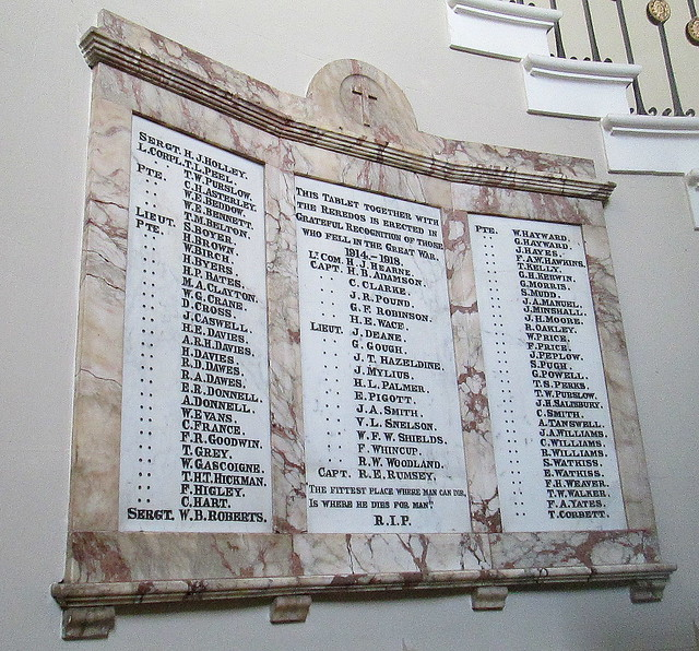 St Chad's, Shrewsbury, Great War Dead