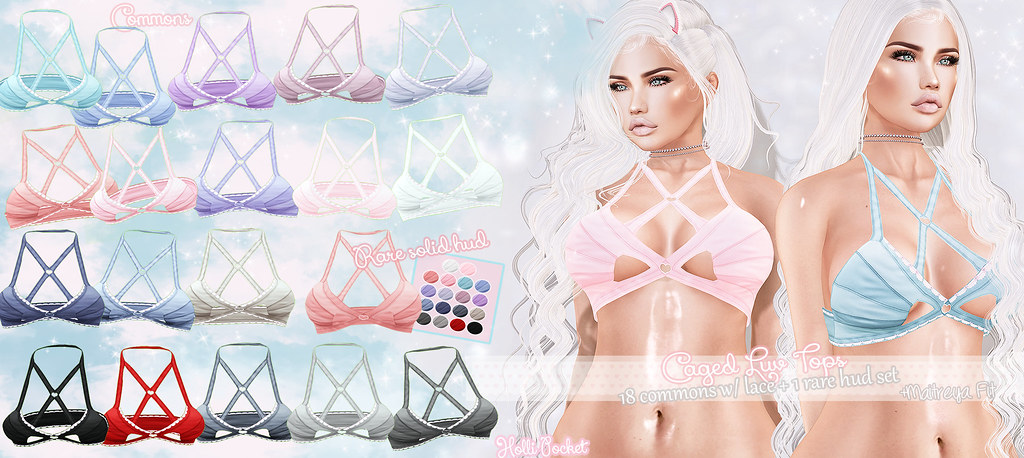 HolliPocket-Caged Luv Tops Ad