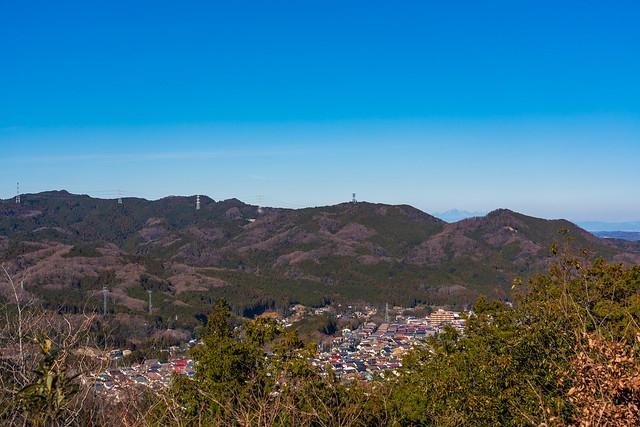 歩いてきた稜線(北向地蔵・物見山・日和田山)@多峯主山