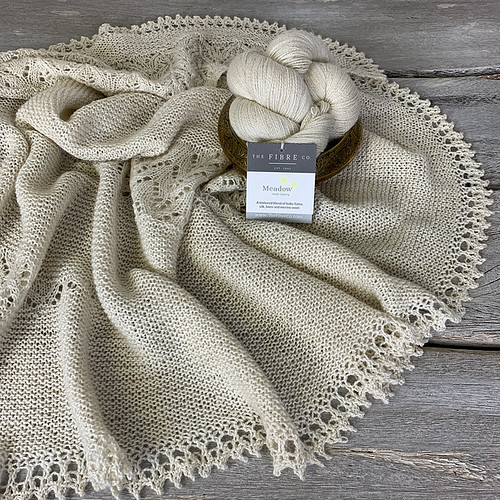 Seacote shawl by Paulina Popiolek from The Fibre Company's Foundations SS19 Collection
