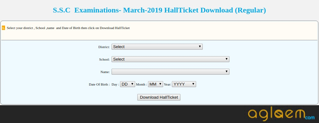 TS 10th Hall Ticket 2019 (Available) – Download Telangana