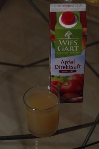 Apfelsaft am Morgen