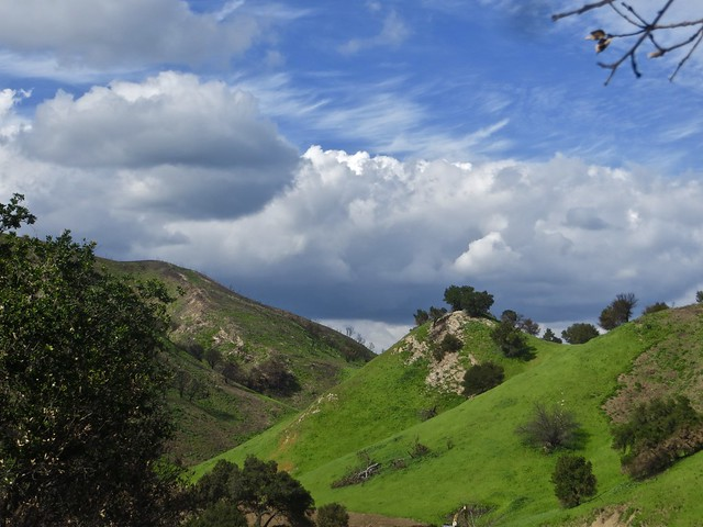 clouds in the santa monica mountains