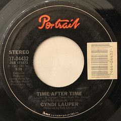 CYNDI LAUPER:TIME AFTER TIME(LABEL SIDE-A)