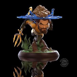大海王者的帥氣泳姿! Quantum Mechanix Q-Fig 系列《水行俠》水行俠 Aquaman Q-Fig