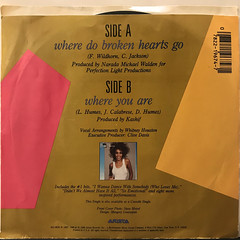 WHITNEY HOUSTON:WHERE DO BROKEN HEARTS GO(JACKET B)