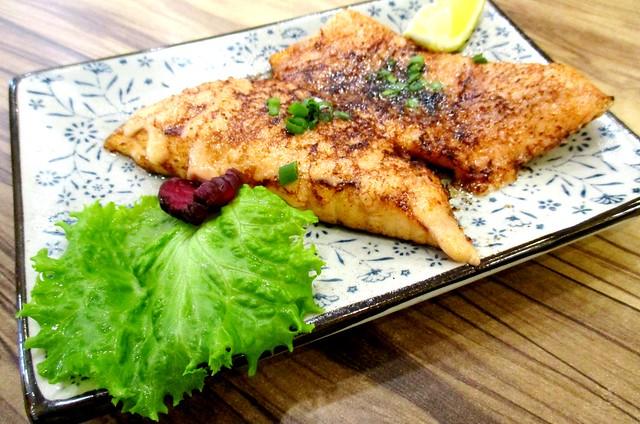 Salmon mentaiyaki