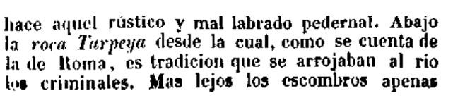 Fray Gernundio habla de la Roca Tarpeya de Toledo el 30 marzo de 1842