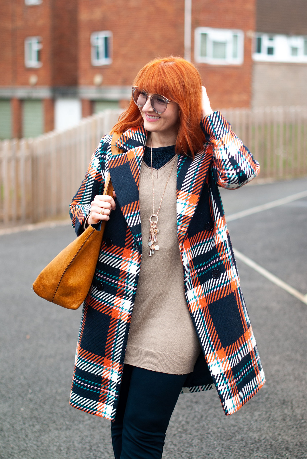 Over 40 Style: Dressing in Shades of Two Basic Colours (Navy and Orange) | Not Dressed As Lamb