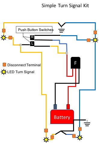 led turn signal wiring