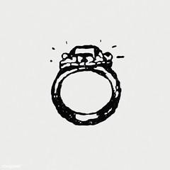 Vintage diamond ring illustration