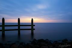 Sunset over the IJsselmeer.