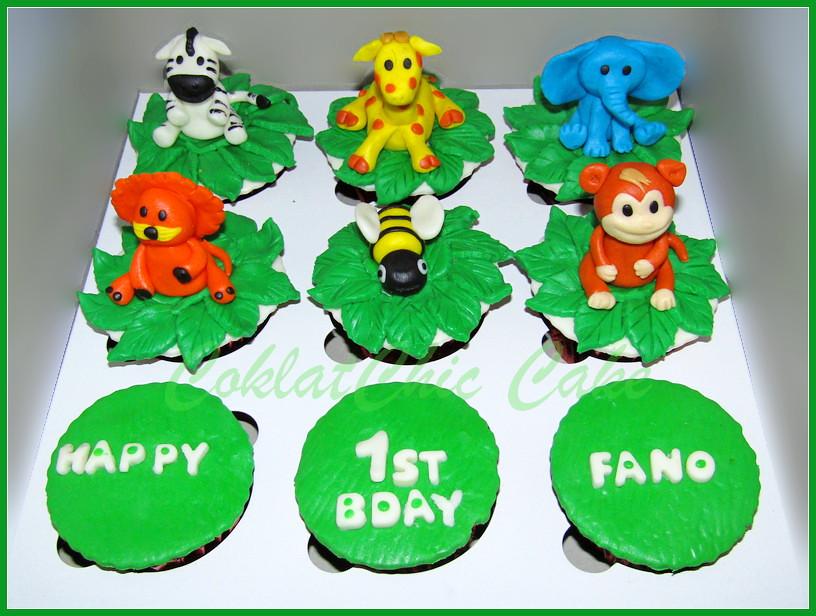 Cupcake set Animal