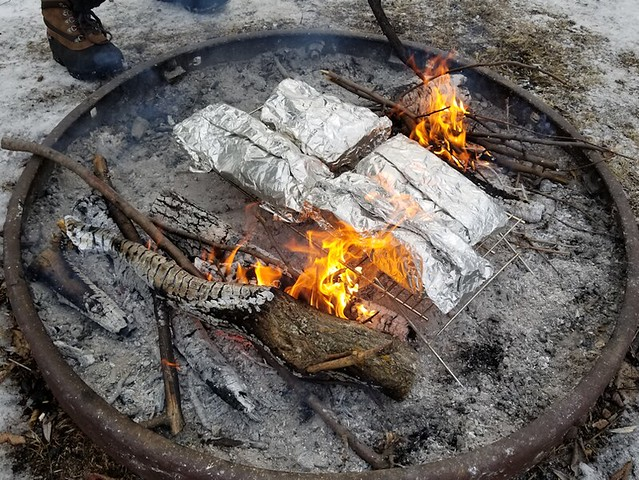 20190316.firepit.foilcooking.second.setup
