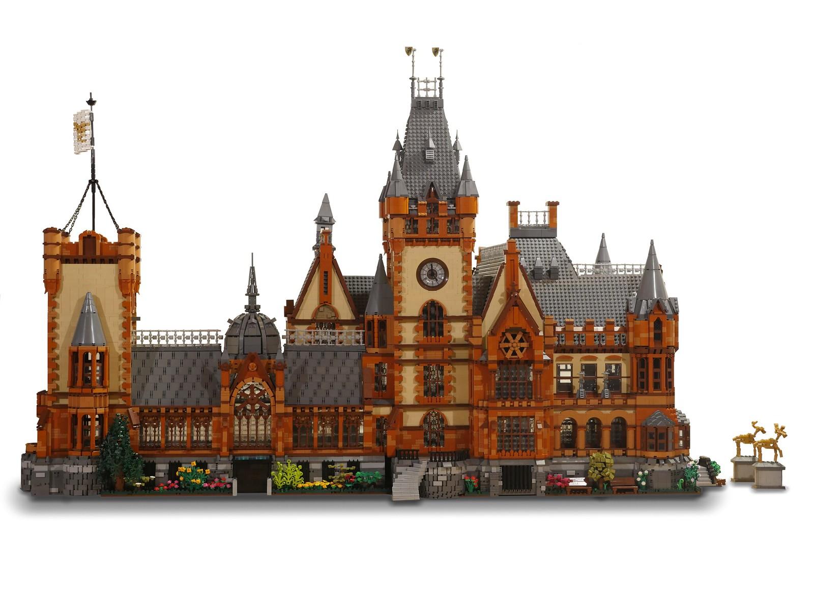лего самоделка замок