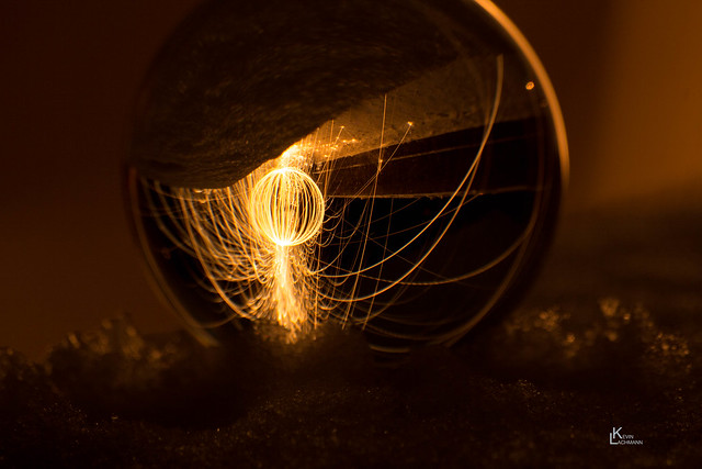 Globe#lightpainting #barrage du gouffre d'enfer