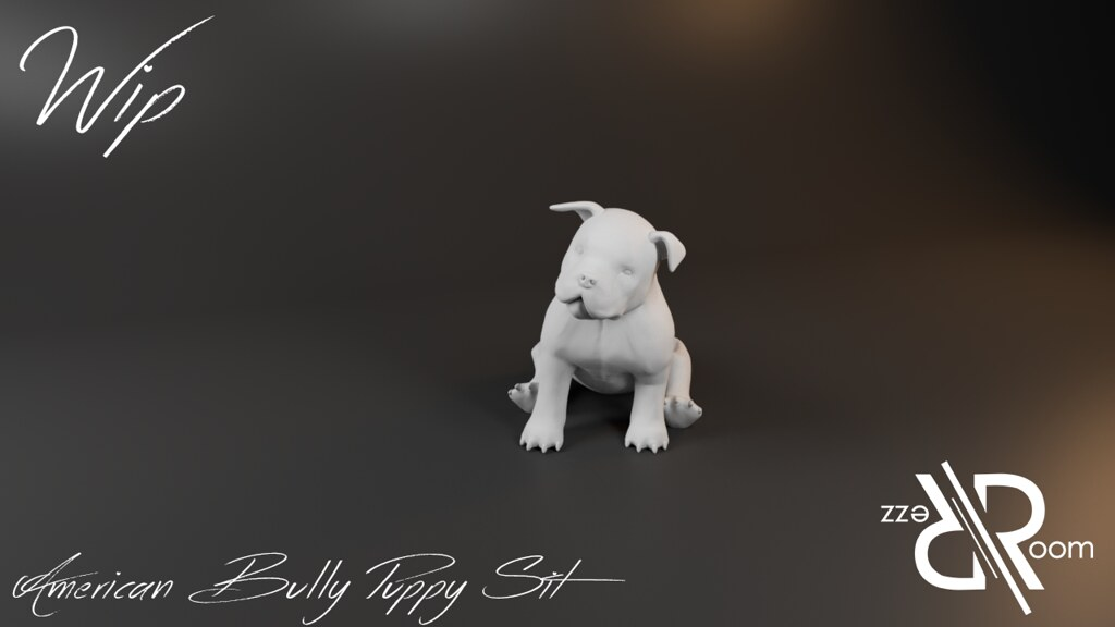 American Bully Puppy Sit – Copie