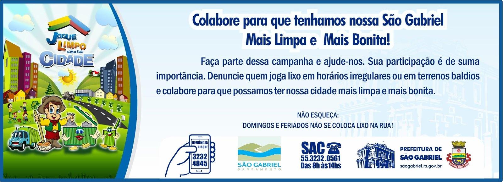 Jogue Limpo com a sua Cidade - Prefeitura de São Gabriel