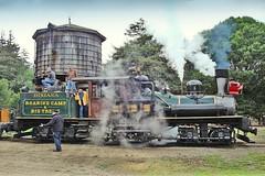 USA, la Californie, le train vapeur de Roaring Camp Railroads