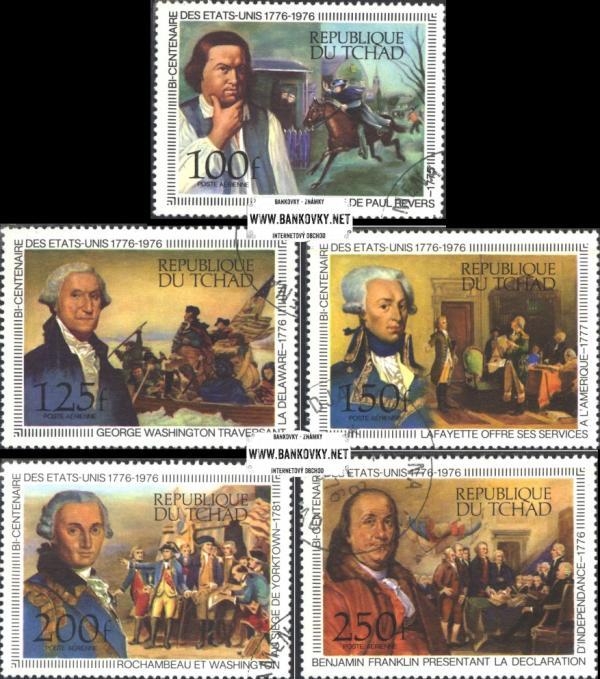 Známky Chad 1976 Nezávislosť USA, nerazítkovaná séria