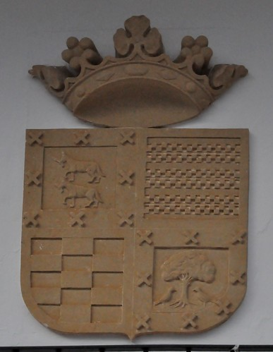 El Carpio (Córdoba-España). Teatro. Escudo de los marqueses del Carpio (Haro, Sotomayor y alianzas)