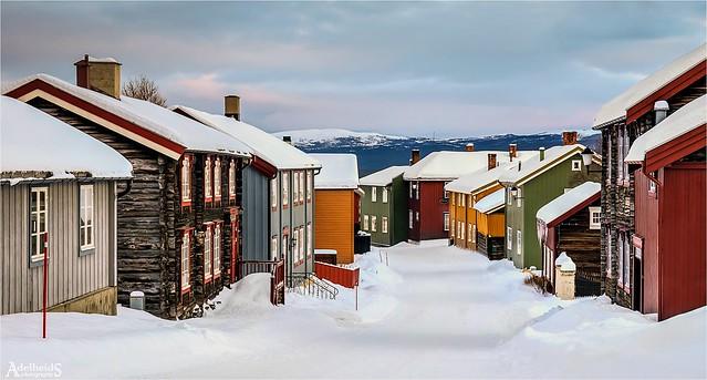 A Wintry Lane, Røros, Norway