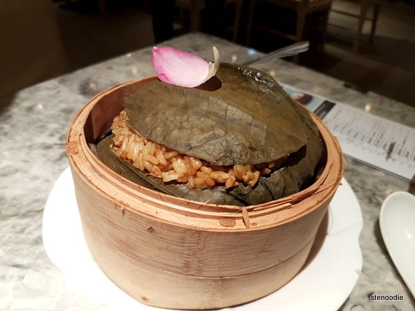 Floral Rice in Lotus Leaf Wrap 荷花蒸飯