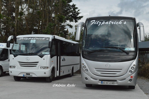 Fitzpatricks Of Listowel Mercedes 1523L Touring (07-KY-2748) & Mercedes Eurocoach LX 29 (07-KY-10342).