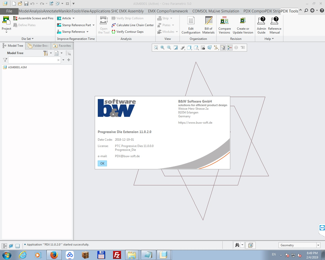 Working with PTC Creo PDX 11.0.2 for Creo 2.0-5.0 full license