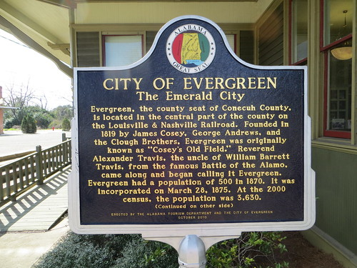 City of Evergreen Marker Evergreen AL