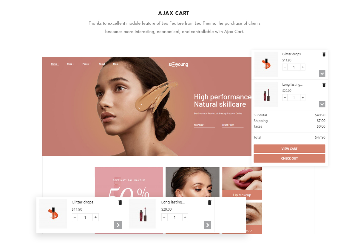ajax add to cart - Leo Sooyoung - Cosmetics and Beauty Prestashop Theme