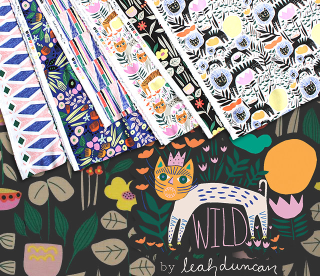 Cloud9 Fabrics Wild Collection by Leah Duncan