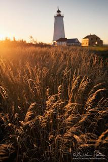 Miscou, coucher de soleil au phare