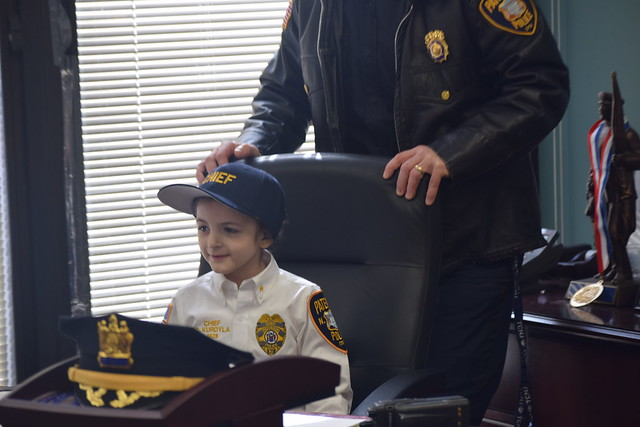Paterson police chief for a day