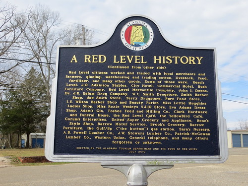 A Red Level History Marker (Reverse) Red Level AL