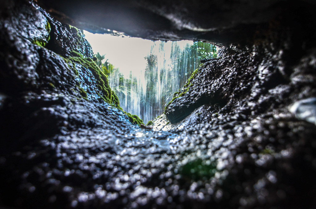 Back of waterfall rocks AK