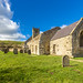 The ruins of St Martin's Church in the deserted medieval village of Wharram Percy