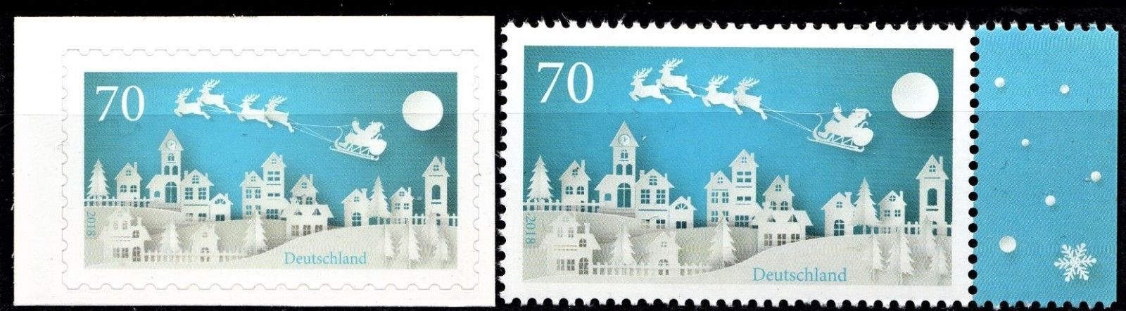 Germany - left: Michel #3423 (2018) self-adhesive and right: Michel #3421 (2018)