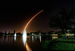 SpaceX Falcon 9 Rocket - Viewed from Indian Harbour Beach, FL