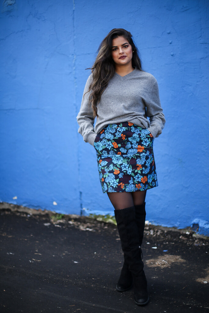 Priya the Blog, Nashville fashion blog, Nashville fashion blogger, Nashville style blog, Nashville style blogger, winter outfit, winter wear to work outfit, how to wear over-the-knee boots, LOFT skirt, over-the-knee boots