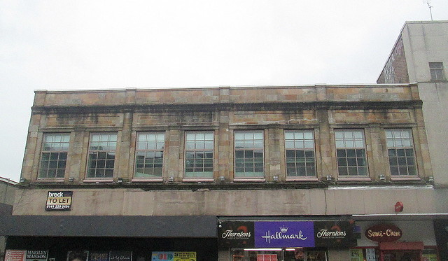 Facade, Art Deco Building, Kilmarnock Road, Glasgow