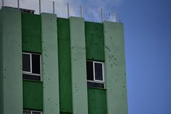 Bullet holes in the Hotel Santa Clara Libre, Santa Clara, Cuba, 03-18-2019 020