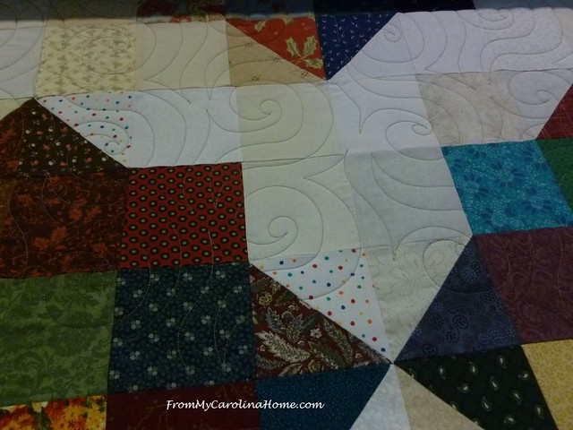 Carolina Hurricane Quilt full size at FromMyCarolinaHome.com