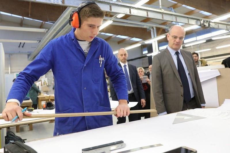 Visite d'un lycée professionnel des Hautes-Alpes